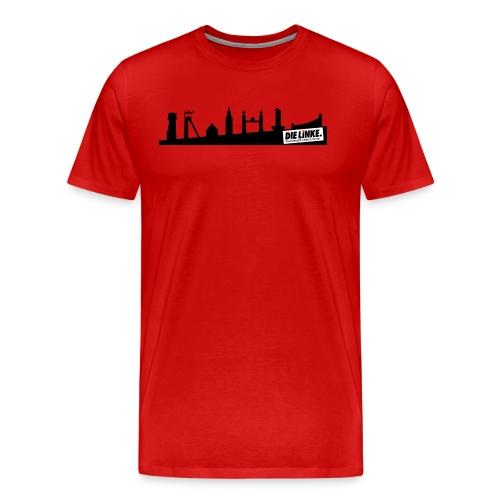 Men: Shirt rot Bundestagswahl 2017 mit Skyline Castrop - Männer Premium T-Shirt