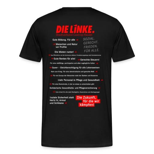 Men: Shirt schwarz Bundestagswahl 2017 mit Skyline Castrop - Männer Premium T-Shirt