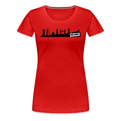 Girlie: Shirt rot Bundestagswahl 2017 mit Skyline Castrop - Frauen Premium T-Shirt