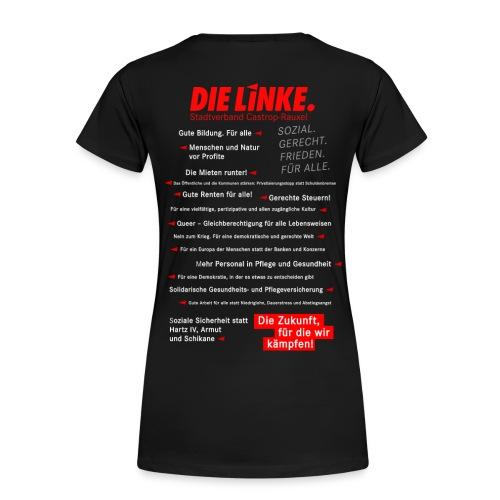 Girlie: Shirt schwarz Bundestagswahl 2017 mit Skyline Castrop - Frauen Premium T-Shirt