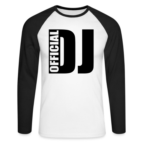 sweat official dj - T-shirt baseball manches longues Homme