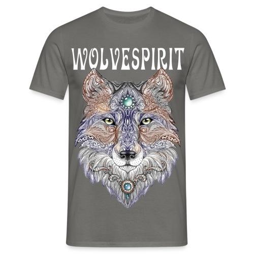 WolveSpirit - Wolf Head - Man Shirt - Männer T-Shirt
