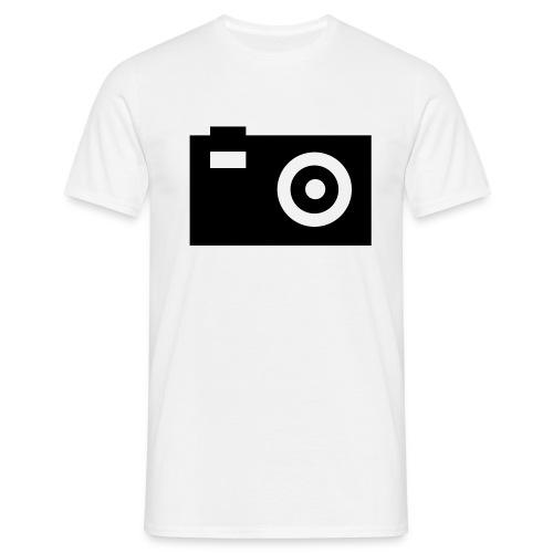 camera - T-shirt herr