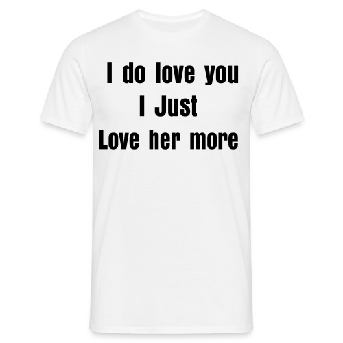 I love you - Men's T-Shirt