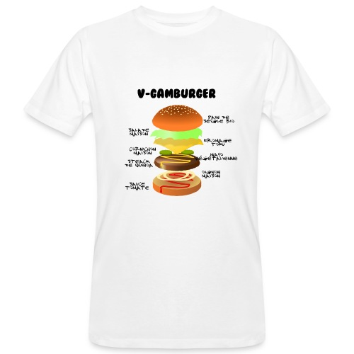 V - gamburger - T-shirt bio Homme