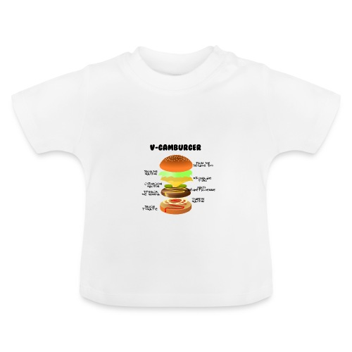 V - gamburger - T-shirt Bébé