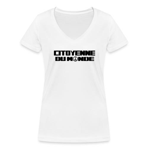 Citoyenne du Monde - T-shirt bio col V Stanley & Stella Femme