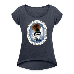 Wiesn-skull T-Shirts - Frauen T-Shirt mit gerollten Ärmeln