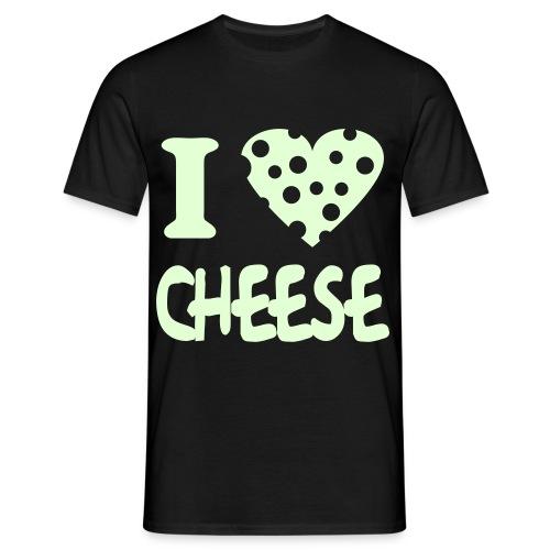 I Love cheese (Glow in the dark) - Men's T-Shirt