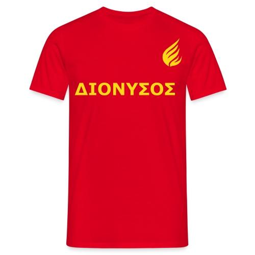 ΔΙΟΝYΣΟΣ Rot. - Männer T-Shirt