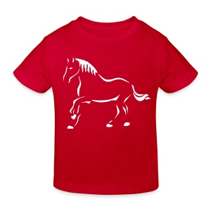 Pferdekunst - Kinder Bio-T-Shirt