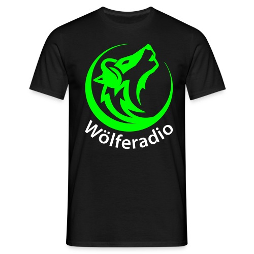 Shirt wölferadio schwarz - Männer T-Shirt