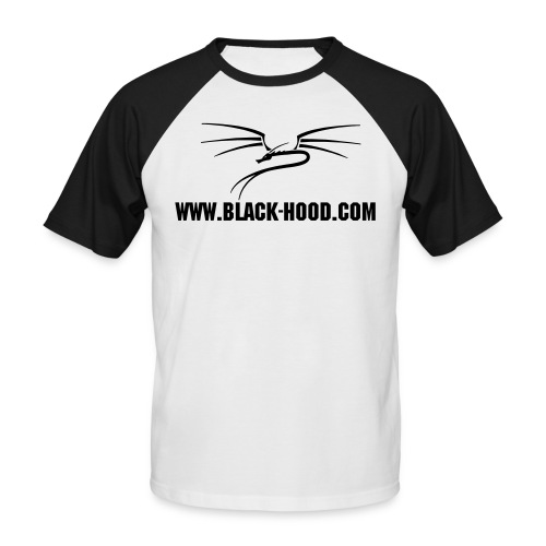 BLACK-HOOD FAN-Shirt mit Motiv - Männer Baseball-T-Shirt