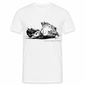 Sidecar racers - Seigfried Schauzu & Horst Schneider - Men's T-Shirt