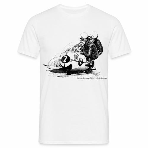 Sidecar racers - Max Deubel & Emil Horner - Men's T-Shirt