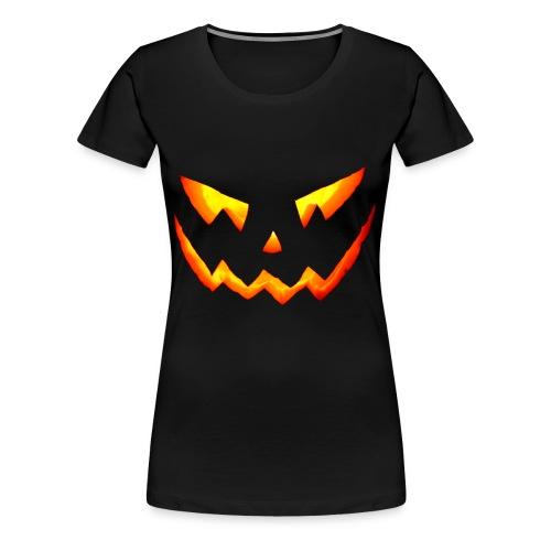 Halloween Scary Pumpkin - T-shirt Premium Femme