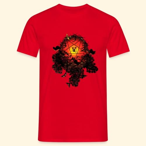 333 half evil  pentagram - Männer T-Shirt