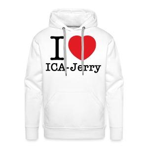 I heart ICA-Jerry Vit Munktröja - Premiumluvtröja herr