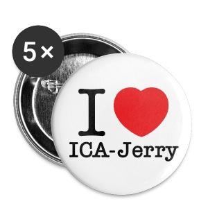 I heart ICA-Jerry Knapp Stor 5-pack - Stora knappar 56 mm