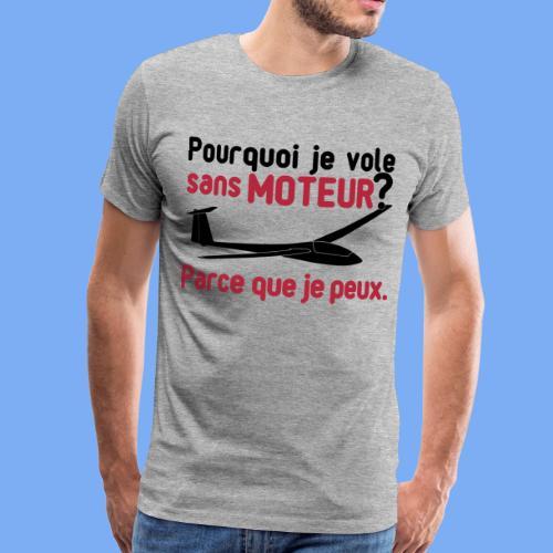 vol à voile sans moteur - Men's Premium T-Shirt