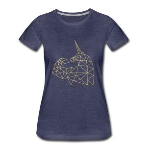 Bizepseinhorn Gitter-Design: Frauen Premium T-Shirt - Frauen Premium T-Shirt