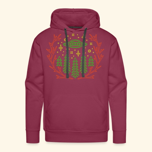 WE ARE NOT ALONE - SPACE HOODY UV ACTIV - BORDEAUX - Männer Premium Hoodie