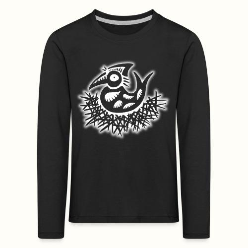 Nesting Bird wit VLA48 - Kinderen Premium shirt met lange mouwen