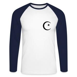 Moon & Star - Men's Long Sleeve Baseball T-Shirt