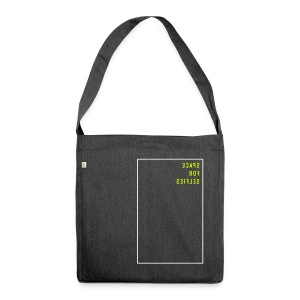 Space for selfies / mirrored (EN), Recycling Tote Bag - Schultertasche aus Recycling-Material