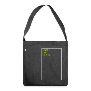 Space for selfies (EN), Recycling Tote Bag - Schultertasche aus Recycling-Material