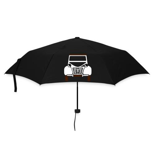 Parapluie noir avec deux chevaux  - Parapluie standard