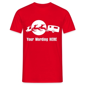 Santa's Xmas Break - add your own wording - Men's T-Shirt