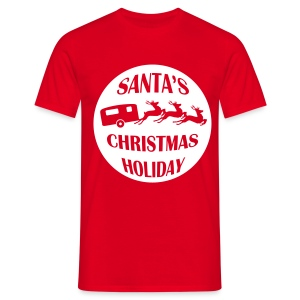 Santa's Christmas Holiday - Men's T-Shirt