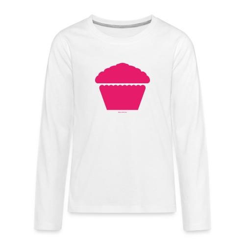 New Girl - Pink Cupcake - Teenager Premium Langarmshirt