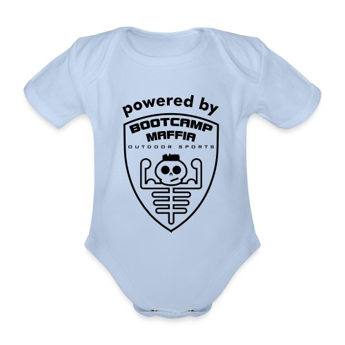 powered by - Bootcamp Maffia - special baby attire - Baby bio-rompertje met korte mouwen