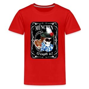 Lady skull_black T-Shirts - Teenager Premium T-Shirt
