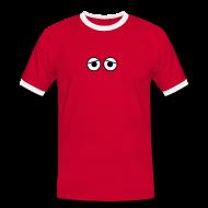 T-shirts ~ Kontrast-T-shirt herr ~ Kure Kure Eyes • Retro