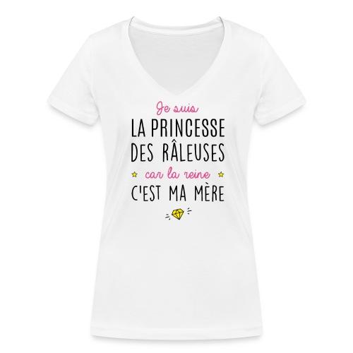 Princesse des râleuses ... - T-shirt bio col V Stanley & Stella Femme