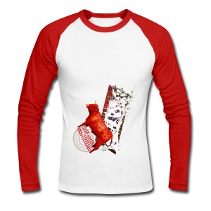 Let out the bull, shirt - Langærmet herre-baseballshirt