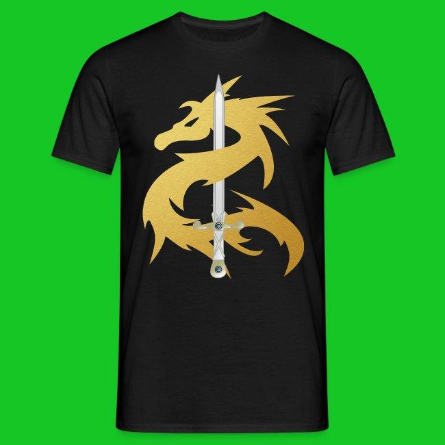 Draak met zwaard heren t-shirt