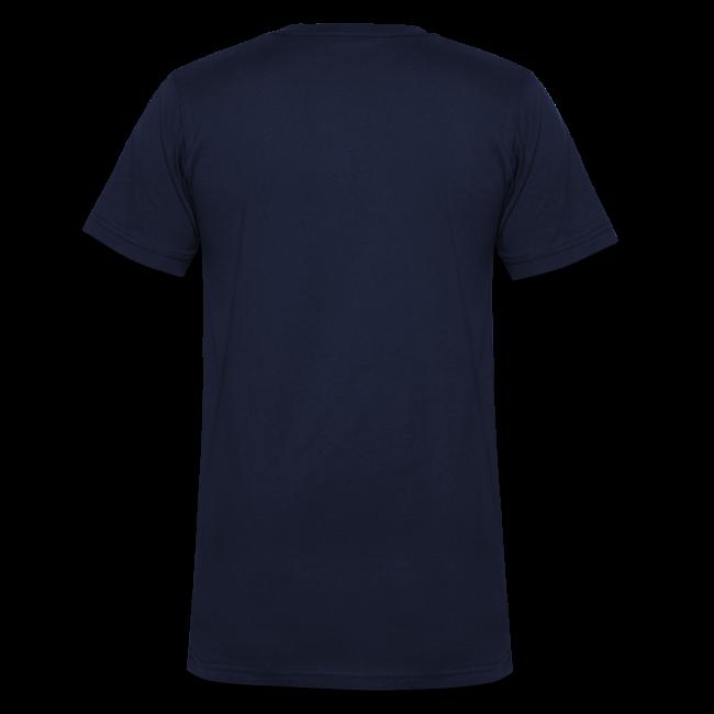 """Männer T-Shirt mit V-Ausschnitt """"Ich geh' auf Schalke"""" - navi"""
