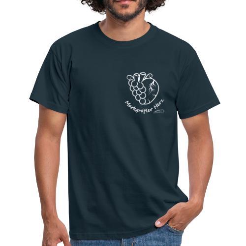 Markgräfler Herz - Männer T-Shirt