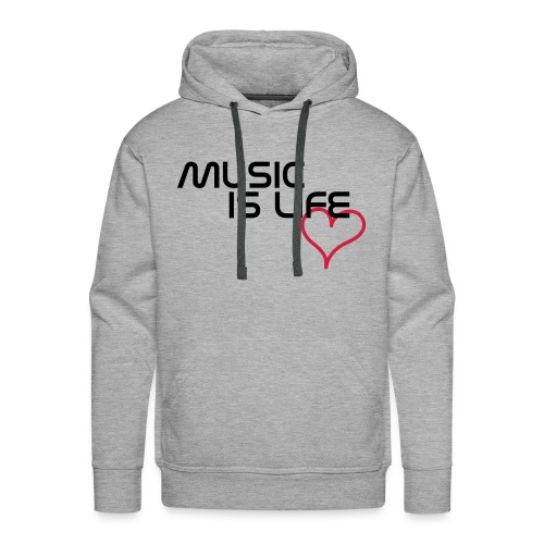 Mannen sweater -Music is life - Mannen Premium hoodie