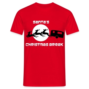 Santa's Christmas Break - Men's T-Shirt
