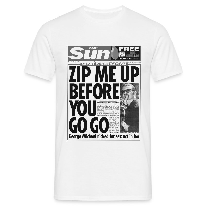 Zip Me Up Before You Go Go - Men's T-Shirt