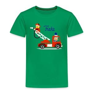 'Firefighter' Fiete Kids Shirt - green - Kinder Premium T-Shirt