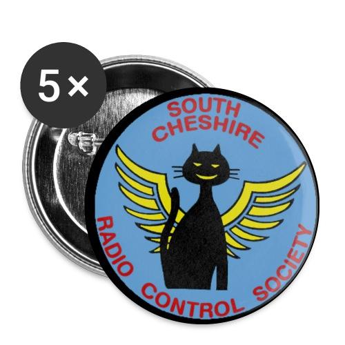 SCRCS 32mm Flying Cat Badges(5) - Buttons medium 32 mm