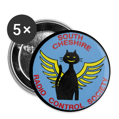 SCRCS 56mm Flying Cat Badges(5) - Buttons large 56 mm