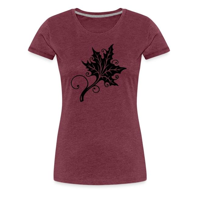Merch And Beauties Herbst Blatt Ahorn Tattoo Style Maglietta