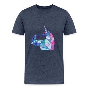 Bizepseinhorn Poly-Color - Männer Premium T-Shirt - Männer Premium T-Shirt